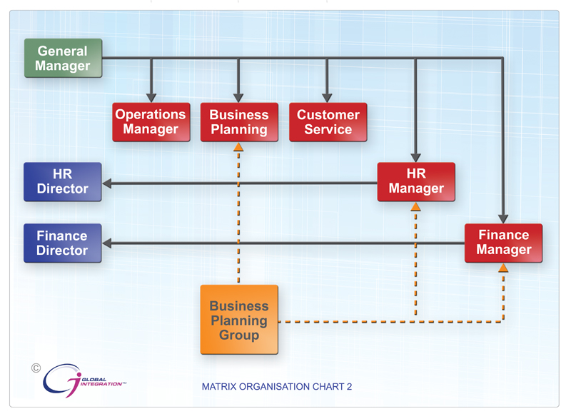 matrix chart A matrix organizational chart is a specialized organizational chart that defines more complex structures definition a matrix organizational chart describes the areas of communication on a matrix-shaped chart it couples hierarchy with multiple levels of communication responsibilities this structure is more complex than traditional structures.