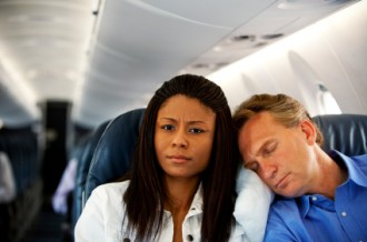 Couple on flight