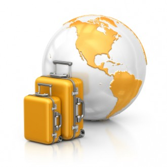 suitcase and world image