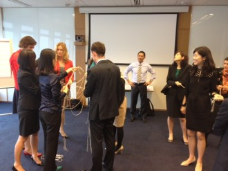 TH Ong facilitates a learning session in Hong Kong