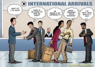 """International arrivals"""