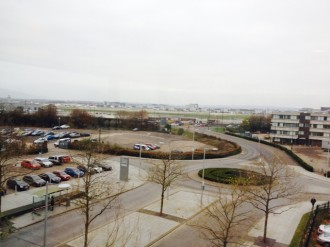 View from training room in Gatwick, England, last week. (Taken by Kevan Hall)