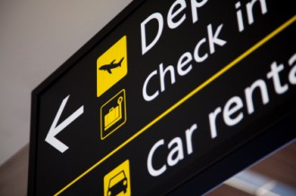 departures, check in, car rental